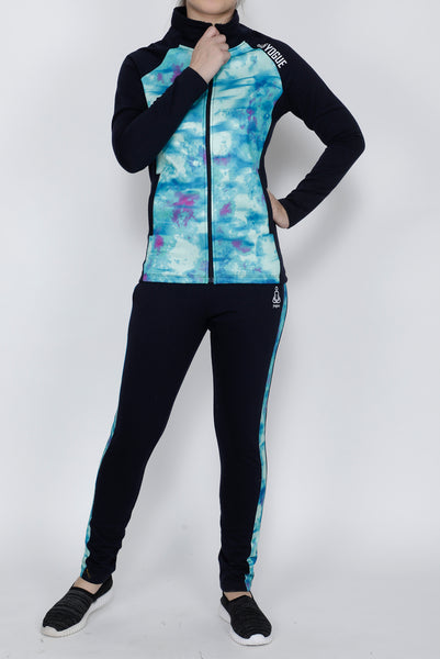 Turquoise Navy Thermal Tracksuit