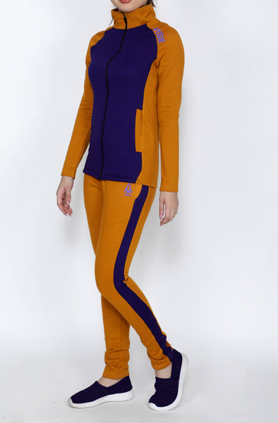 Purple & Gold Thermal Tracksuit
