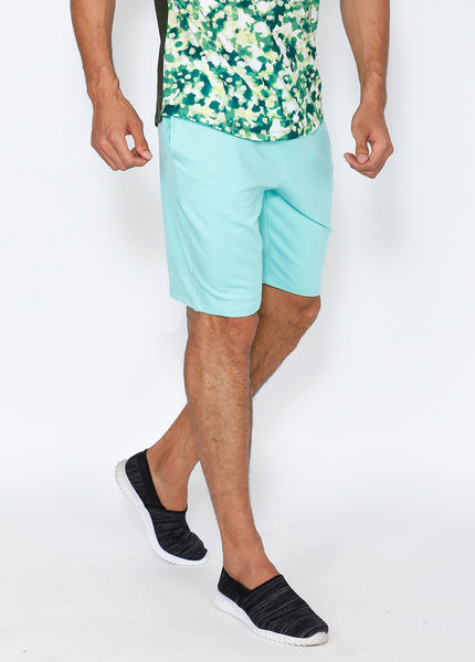 Sea Green Soft Terry Shorts