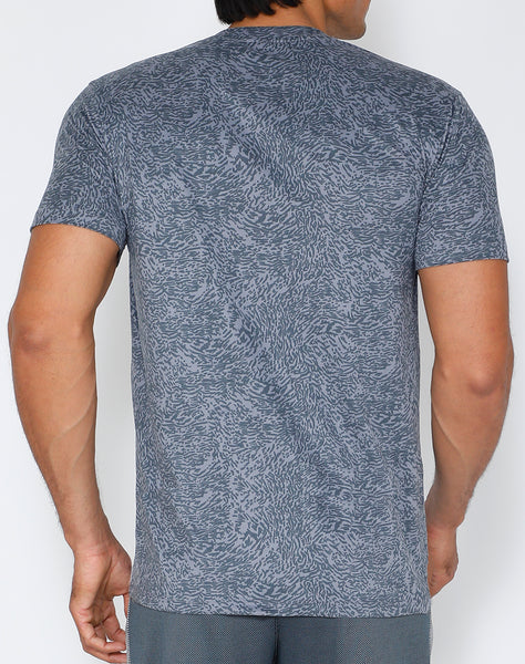 Silver Dashed Roundneck T-Shirt