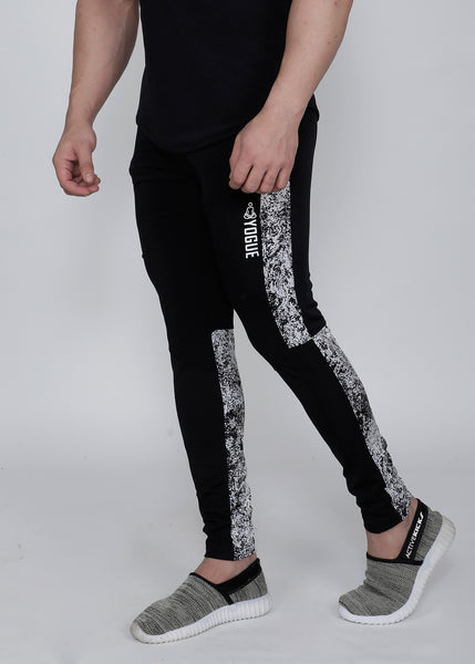 Black & White Atomic Slim-Fit Trackpants