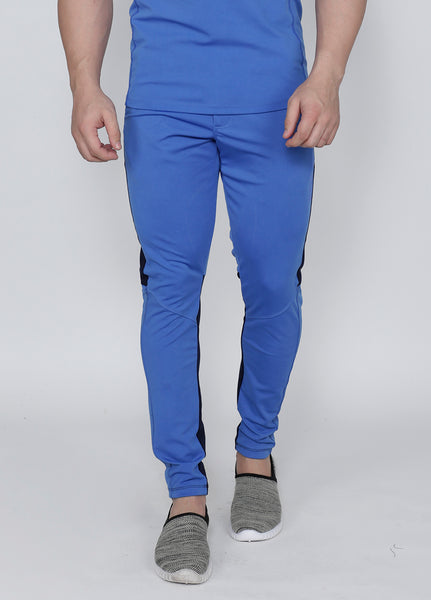 Indian Blue Slim-Fit Trackpants