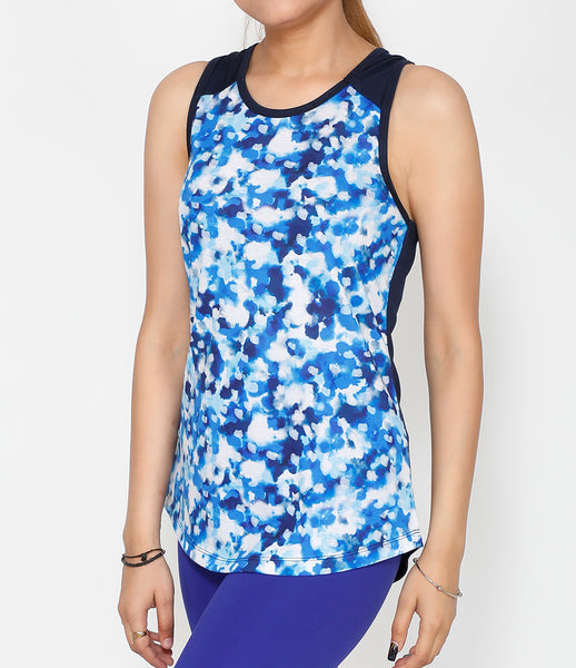 Stamp Blue Cotton Tank
