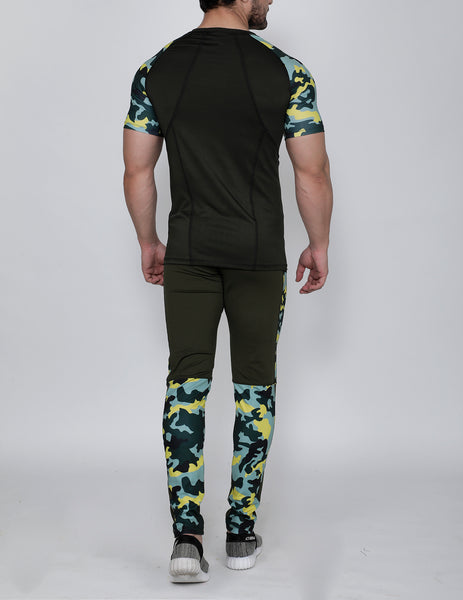 Olive Marine Compression T-Shirt