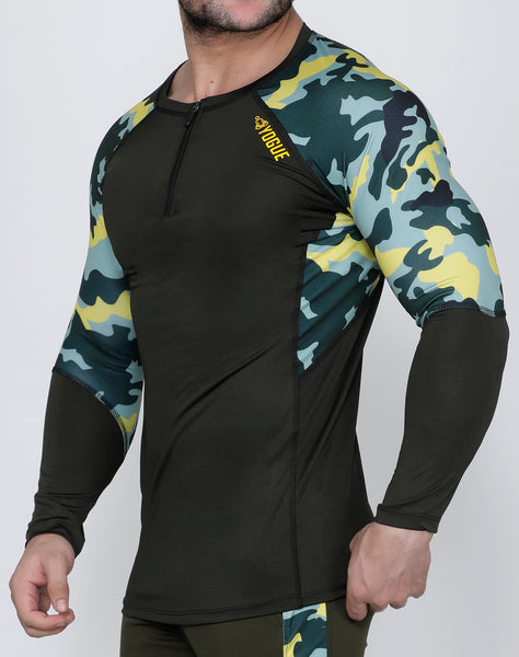Olive Marine Full Sleeve Compression
