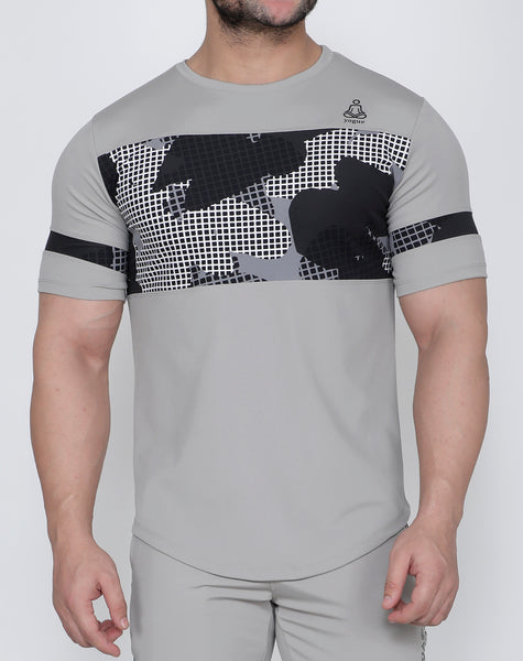 Light Grey SquareMesh T-Shirt