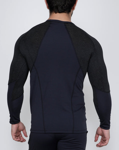 Charcoal Micro-Dotted Full Sleeve Compression