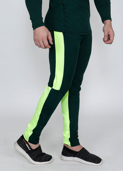 Neon Green Slim-Fit Trackpants