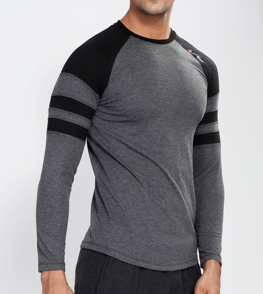 Graphite Grey ArmBand Full Sleeve T-Shirt - Cotton