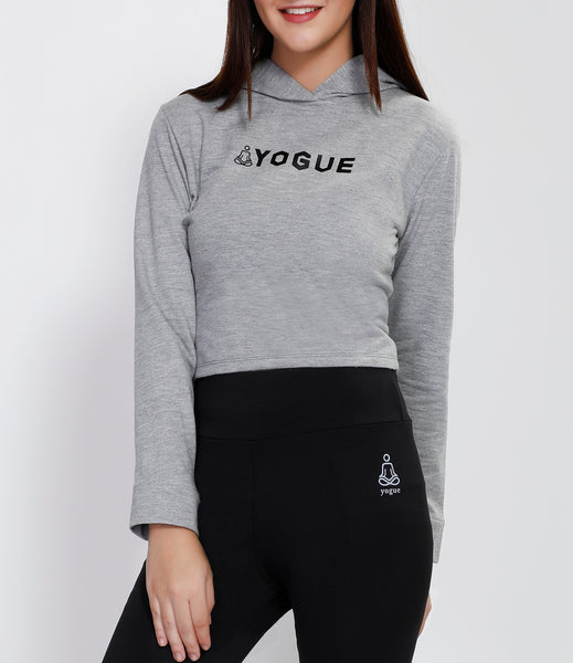 Light Grey Crop Hoodie