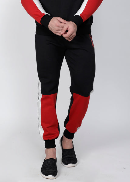 Black & Red Thermal Joggers