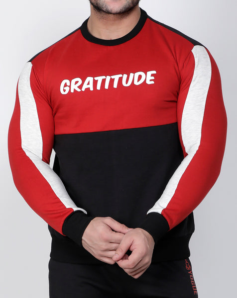 Black & Red Thermal Sweatshirt