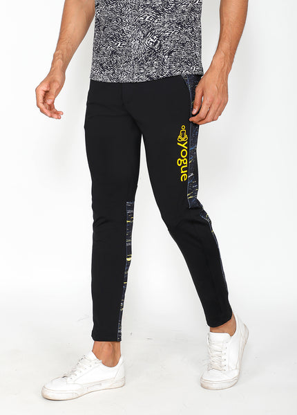 Atlantic Black Slim-Fit Trackpants