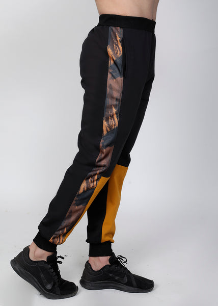 Black & Mustard Thermal Joggers