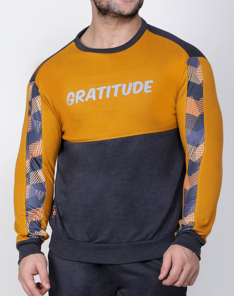 Graphite & Gold Thermal Sweatshirt