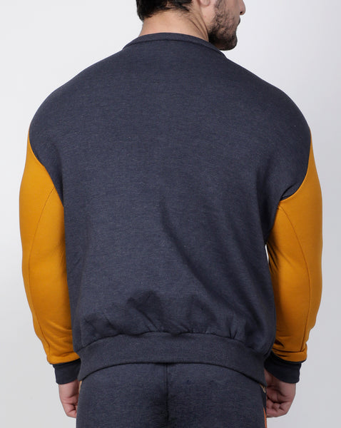 Graphite & Gold Crew-Neck Tracksuit