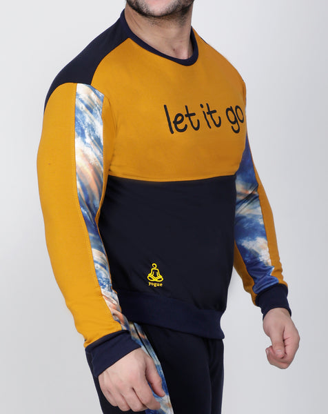 Navy Sunshine Thermal Sweatshirt