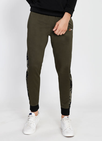 Millitary Green Camo French Terry Joggers