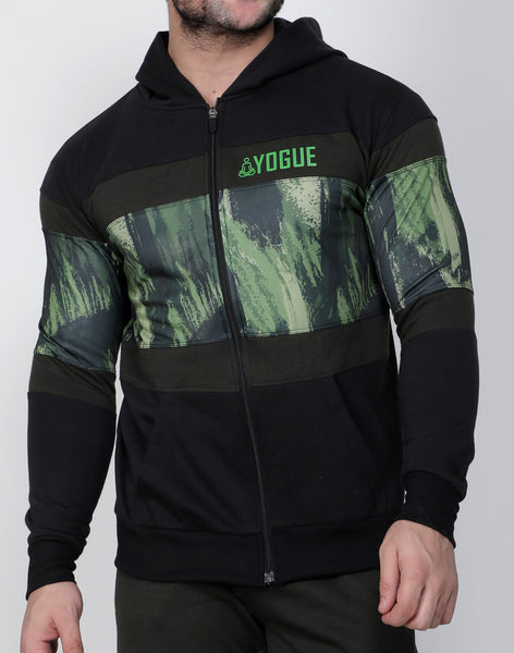 Black & Green Thermal Jacket