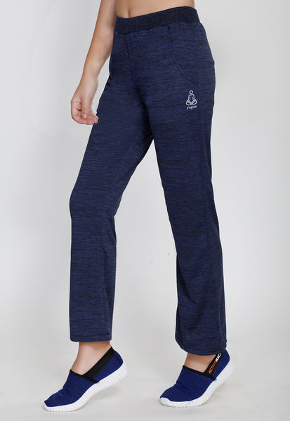 Dark Blue Texture Bell Bottoms