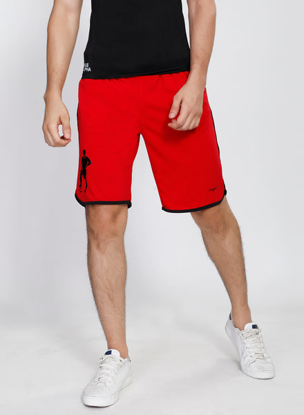 Red Football Shorts