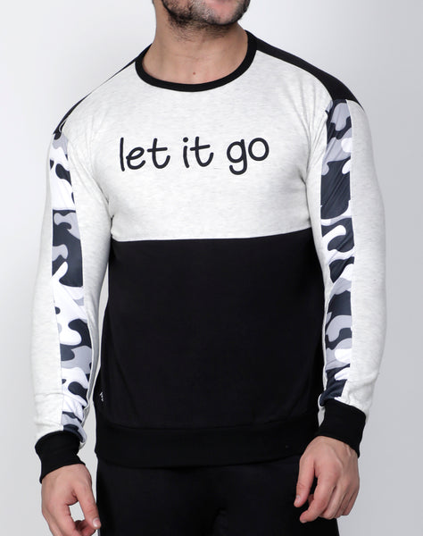 Black & White Thermal Sweatshirt