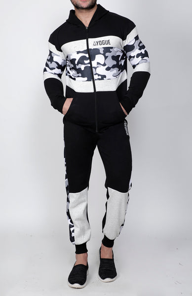 Black & White Camo Thermal Tracksuit
