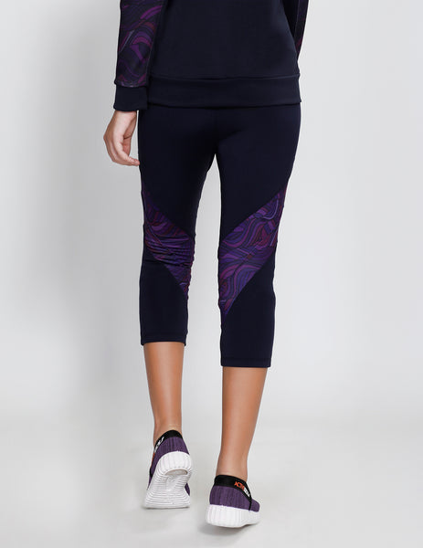 Navy Purple Capris