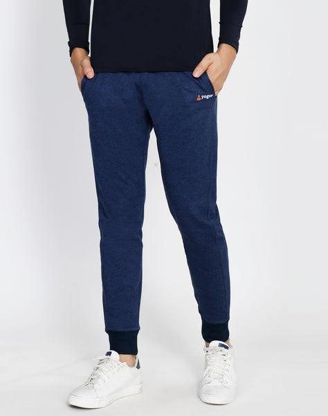 Blue Texture French Terry Joggers