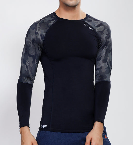 Navy Camo Full Sleeve Compression