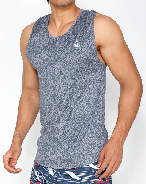 Silver Dashed Tank