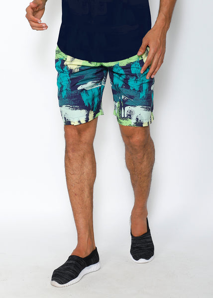 Navy & Green Boardshorts