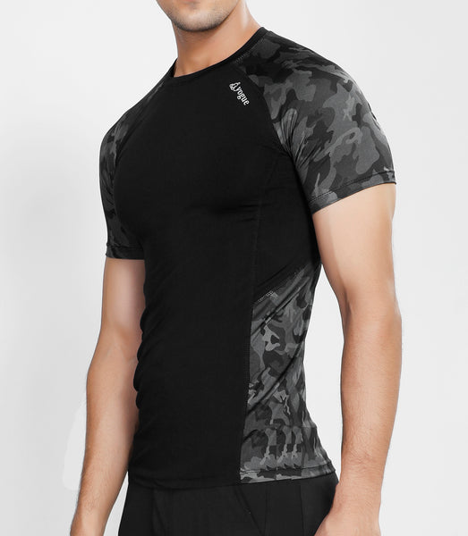 Camo Black Compression T-Shirt