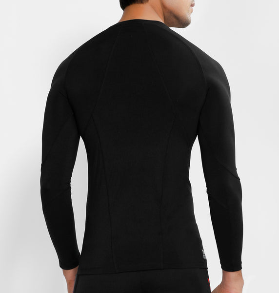 Black Half Zipper Full Sleeve Compression