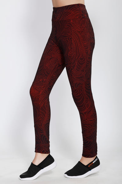 Red MicroDots Tights