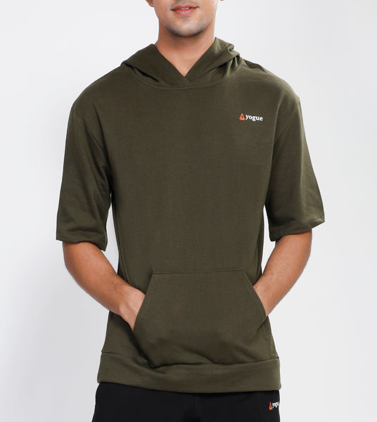 Military Green Hooded T-Shirt