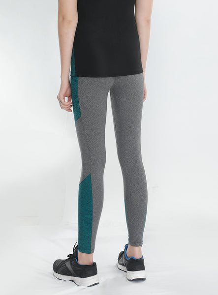 Grey Green Texture Tights