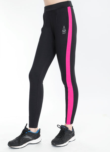 Black Pink Slim Fit Joggers