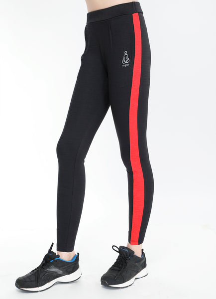 Black Red Slim Fit Joggers