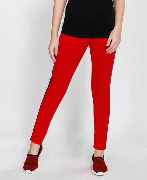 Red Black Slim Fit Joggers