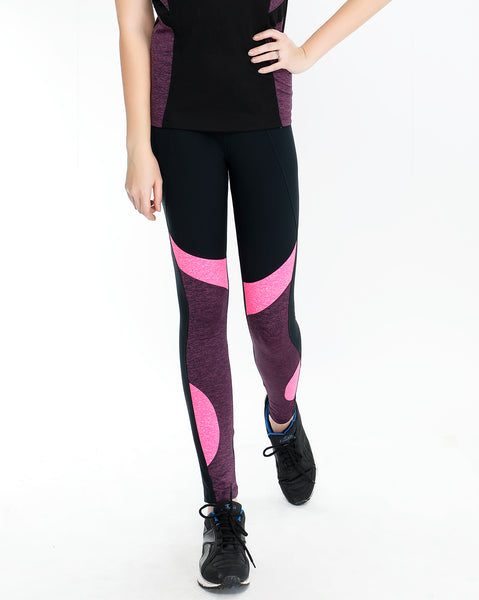 Black Tights with Pink Detail