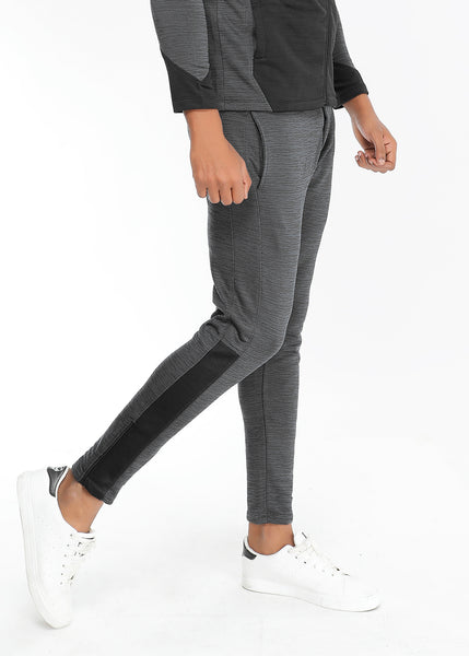 Charcoal Texture Slim-Fit Trackpants