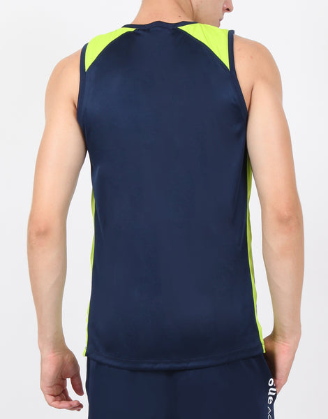 Navy & Green Sleeveless