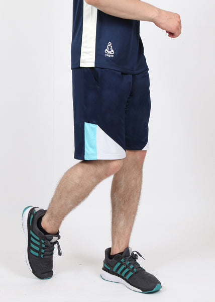 Navy Blue & White Long Shorts