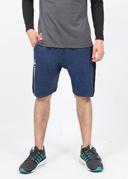 Navy Texture Long Shorts