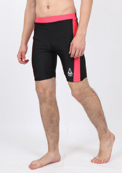 Black Long Yoga Trunks