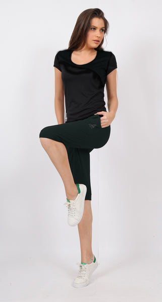 Charcoal Grey Knee-Fit Capris