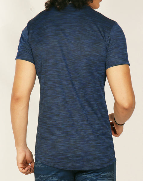 Dark Blue Texture Roundneck T-Shirt