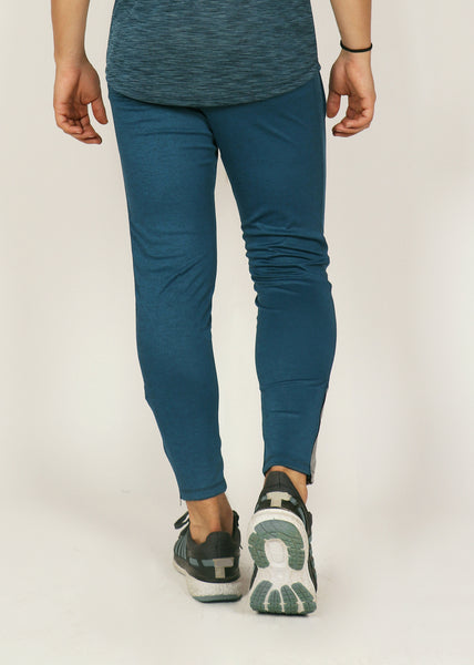 Teal Blue Slim-Fit Trackpants