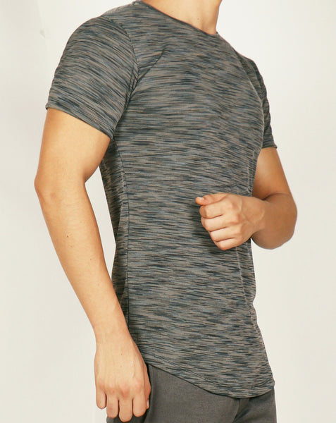 Grey Texture Roundneck T-Shirt